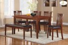 6-Piece Pack Dinette Set Table : 35.5 x 60 x 30H Chair : 18 x 21.5 x 36H Bench : 46 x 16.5 x 19H Product Image