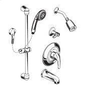 Commercial Shower System with Showerhead & Tub Spout, 1.5 gpm - Polished Chrome