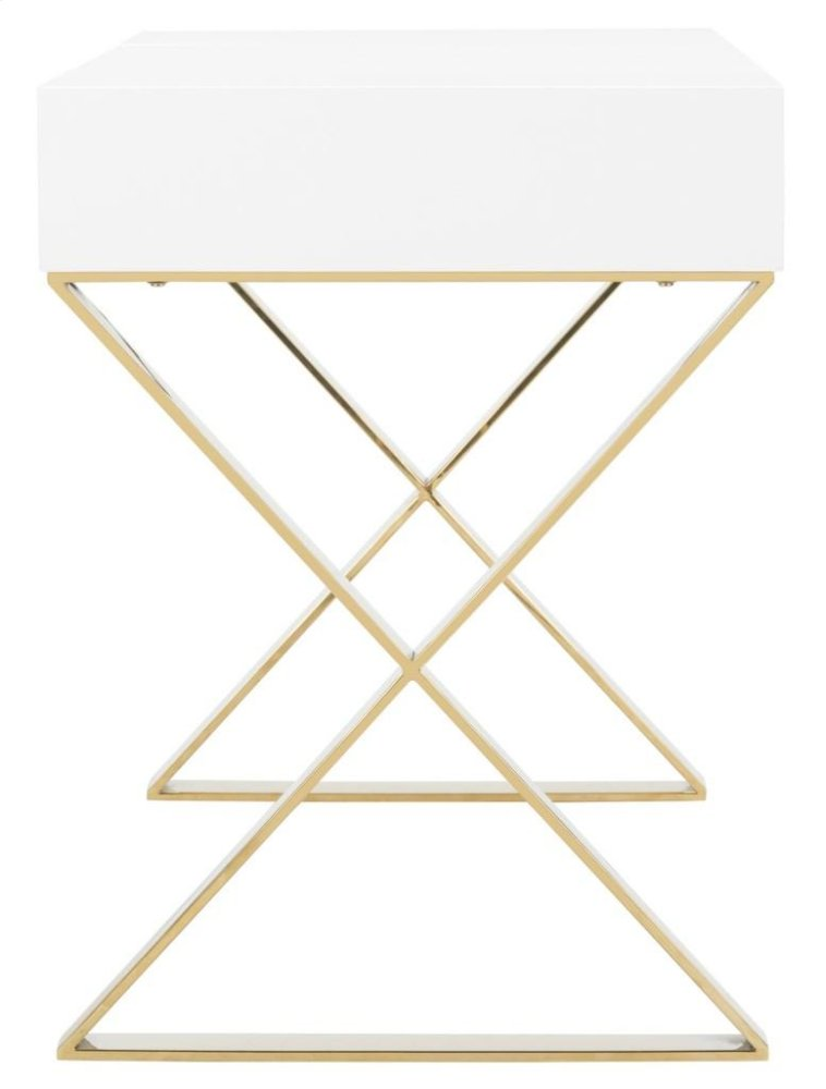 Additional Yesenia Lacquer Vanity Table   White