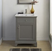 """Smithfield 24"""" Vanity - Medium Gray"""