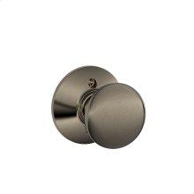 Plymouth Knob Non-turning Lock - Antique Pewter