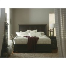 Transitional-Panel Bed in Polished Sable
