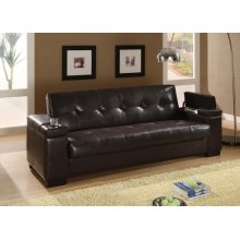Transitional Dark Brown Sofa Bed