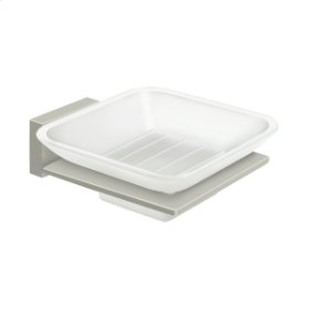 Frosted Glass Soap Dish, 55D Series - Brushed Nickel