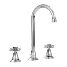 Widespread Bar Faucet - shown with St. Michel Handle