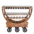 Mango Wood Wine Cart Product Image