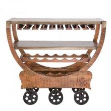 Mango Wood Wine Cart