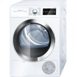 Bosch800 Series Cond. Dryer - 208/240V, Cap. 4.0 cu.ft., 15 Cyc.,63 dBA, SS Drum, Chr. Rev./Door Int. Light, ENERGY STAR