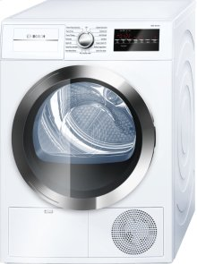 800 Series Cond. Dryer - 208/240V, Cap. 4.0 cu.ft., 15 Cyc.,63 dBA, SS Drum, Chr. Rev./Door Int. Light, ENERGY STAR