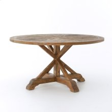 "Opio Round Dining Table 59""-bleached Pin"