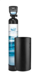 "Highly Efficient Twin Tank Softener with Advanced Touch Screen Valve, Suitable for Homes with 3/4"" to 1 1/2"" Line Sizes. Product Image"