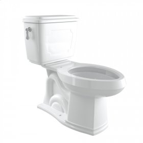 Polished Chrome Perrin & Rowe Victorian Elongated Close Coupled 1.28 GPF High Efficiency Water Closet/Toilet