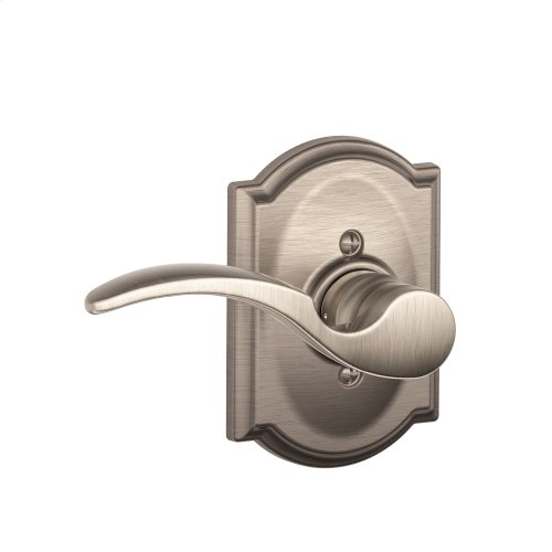 St. Annes Lever with Camelot trim Non-turning Lock - Satin Nickel