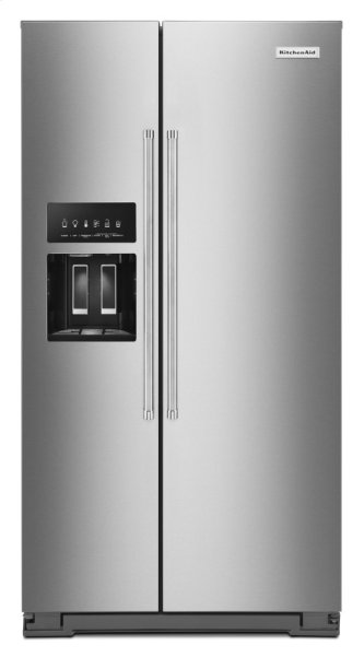 19.9 cu ft. Counter-Depth Side-by-Side Refrigerator with Exterior Ice and Water and PrintShield finish - Stainless Steel with PrintShield(TM) Finish