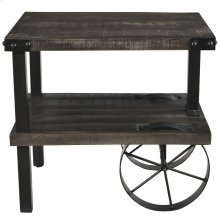 Zahir Accent Table in Distressed Grey