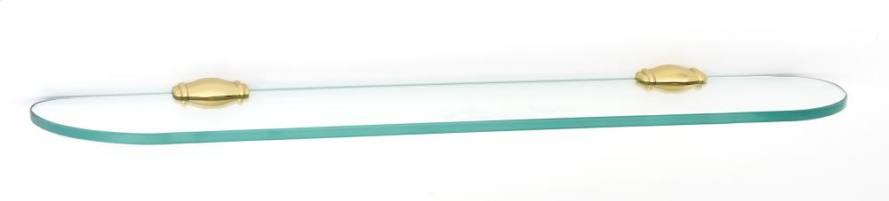Charlie's Collection Glass Shelf A6750-24 - Polished Brass