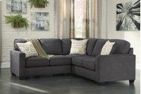 Alenya 3-Piece LAF Sofa Sectional w/ RAF Loveseat (Charcoal) Product Image