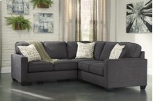Alenya 3-Piece LAF Sofa Sectional w/ RAF Loveseat (Charcoal)
