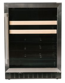 "Beverage Center - 24"" Glass Door w/ Stainless"