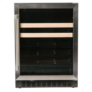 "Azure Home ProductsBeverage Center - 24"" Glass Door w/ Stainless"