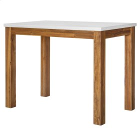 "Toledo 36"" High-Top Table with White Concrete Top, Amber"
