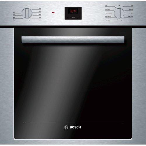 "500 Series 24"", Single Wall Oven, SS, EU Convection, Knob Control, DualClean"