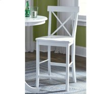 X-Back Stool Pure White