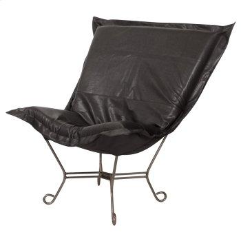 Scroll Puff Chair Avanti Black Titanium Frame Product Image