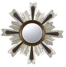Chafe round polyurethane beveled mirror