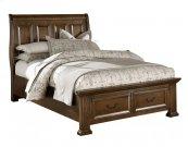 Sleigh Storage Bed King