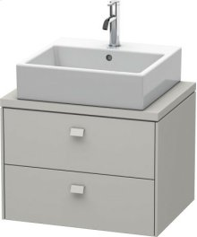 Brioso Vanity Unit For Console Compact, Concrete Grey Matt Decor