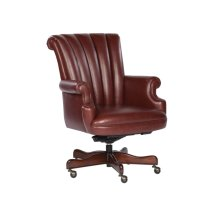 Merlot Leather Executive Chair