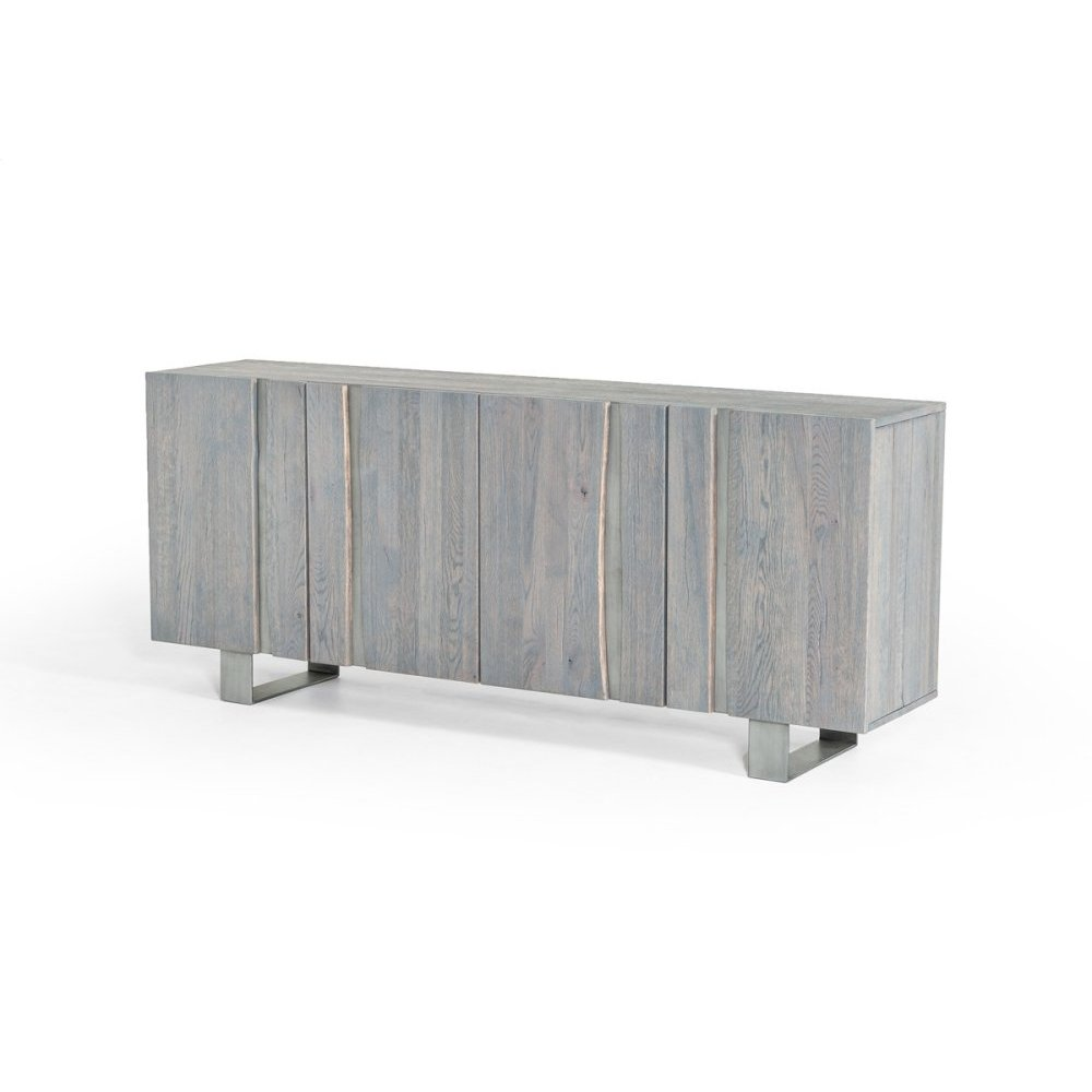 Modrest Murphy Modern Grey Aged Oak Buffet w/ Vertical Line