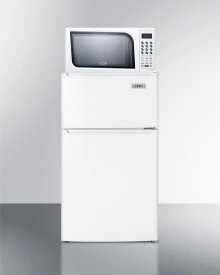 Refrigerator-freezer-microwave Combination Unit With Cycle Defrost