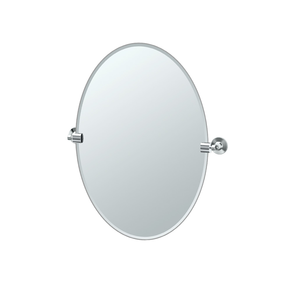 Max Oval Mirror in Chrome