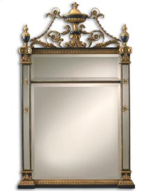 EMPIRE MIRROR BURNISHED GOLD AND BLACK