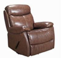 REC-220 Brazil Chocolate Leather Recliner Product Image