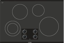 "30"" Black Electric Cooktop 300 Series - Black NEM3064UC"