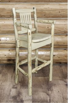 Montana Captains Barstool with Back