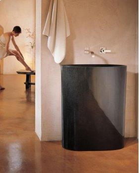 Infinity Pedestal Sink Black Granite