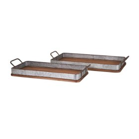 Jarvis Decorative Wood Trays - Set of 2