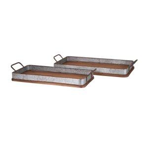 Jarvis Decorative Wood Trays - Set of 2