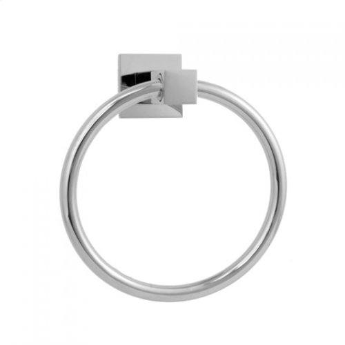 Satin Brass - CUBIX® Towel Ring