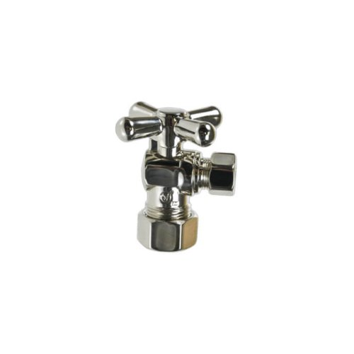 Cross Handle Angle Valve - Polished Gold