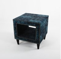 Upholstered Side table with legs Product Image