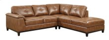 Marquis - 2pc Sectional W/5 Seats-rsf Chaise-lsf Love-chestnut Pu