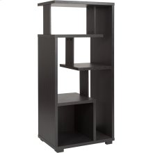 "Morristown Collection 5 Tier 49.5""H Modern Storage Display Unit Bookcase in Espresso Wood Finish"