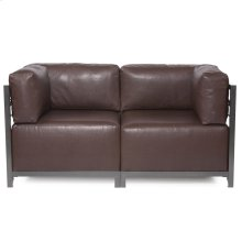 Axis 2pc Sectional Avanti Pecan Titanium Frame