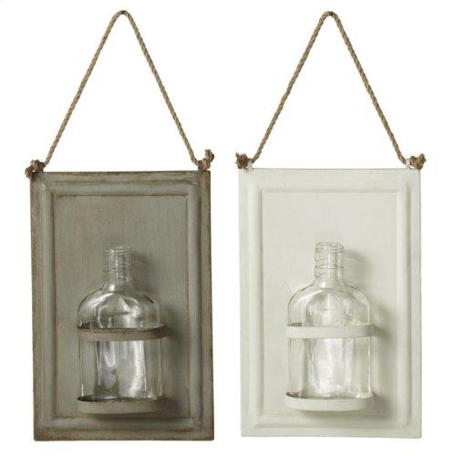 Framed Hanging Bud Vases