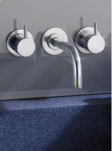 Two-handle build-in mixer with 1/4 turn ceramic disc technology - Grey